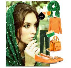 Beauty in green hijab.  Wonderful matching skills, www.joymuslim.com