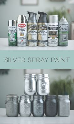 Spray Paint Colors Silver spray paint colors, Rustoleum and Krylon.Silver spray paint colors, Rustoleum and Krylon. Chrome Spray Paint, Spray Paint Vases, Silver Spray Paint, Rustoleum Spray Paint Colors, Spray Paint Metal, Mirror Effect Spray Paint, Spray Painting Glass, Seaglass Spray Paint, How To Paint Glass