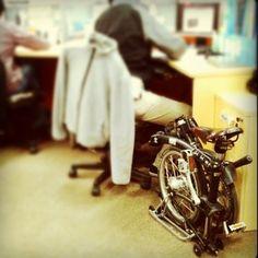 BROMPTON bike to office