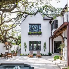 25 Coastal Cottage Bedroom Décor Ideas: Get the Look White house exterior via Becki Owens. via Amber Interiors. COME SEE these White House Exteriors With Traditional Architecture!