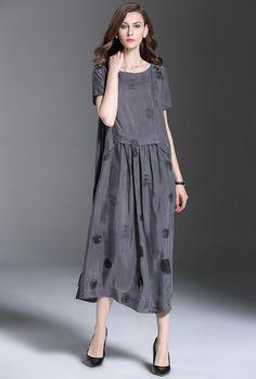 Gray Abstract Dress