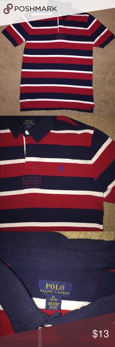 Polo Ralph Lauren Boys XL Red, White, Navy 💪🏽 Size: Kids (Boys) XL (18-20), Color: Multi-Color, Design: Striped, Material: 100% Cotton, Measurements: SEE PICTURES, Excellent Condition 🔥 Smoke-Free Home 🏡 Polo by Ralph Lauren Shirts & Tops Polos