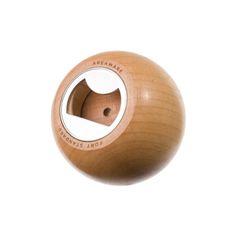 Areaware beech wood sphere bottle opener | hardtofind.