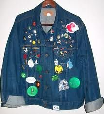 pins on our jackets...the more the better