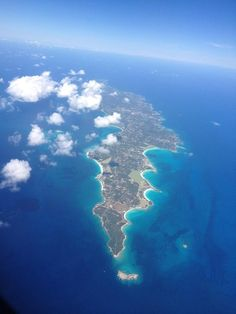 Aerial view of the Anguilla Caribbean Island