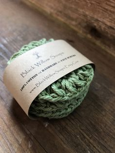Sage Green Makeup Remover, Set of 4, Facial Rounds, Cotton, Natural Scrub Pads, Dish Scrubbies, Scrubbys, Facial Scrubby, Eco Friendly by BlackWillowSoaps on Etsy