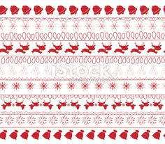 christmas and winter seamless pattern - Illustration
