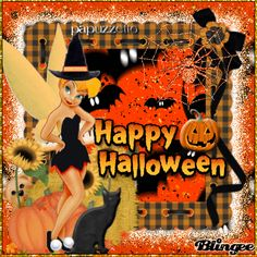 Tinkerbell Halloween Happy Halloween Gif, Halloween Scene, Halloween Make, Halloween Quotes, Halloween Pictures, Holidays Halloween, Halloween Greetings, Disney Best Friends, Tinkerbell And Friends