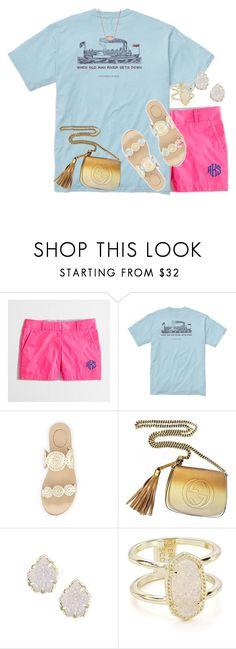 """Babysitting plans rtd"" by livnewell ❤ liked on Polyvore featuring Southern Proper, Jack Rogers, Gucci and Kendra Scott"