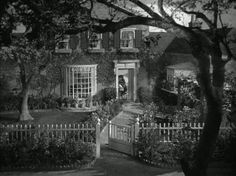 """House from """"Mrs. Miniver""""   This site has many movie and television houses!"""