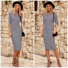 GET THE LOOK - STRIPED DRESS #howtochic #outfit #fashionblogger #ootd