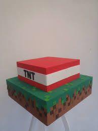 Resultado de imagem para bolo falso do minecraft
