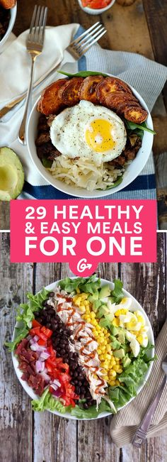 One is no longer the loneliest number in the kitchen. These creative, easy-peasy recipes will... #healthy #recipes http://greatist.com/health/healthy-single-serving-meals (Healthy Recipes Breakfast)
