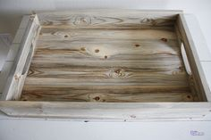 Tutorial on how to age wood.  Love the beachy look