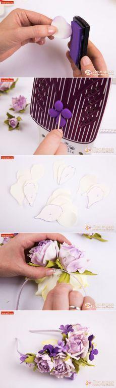 Ободок «Цветочный» | Уроки творчества | Леонардо хобби-гипермаркет - сделай своими руками