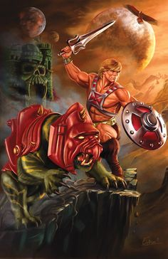 Pop Culture Shock Collectibles has shared images and info for their upcoming Masters of the Universe Scale Statues. Fans will be able to pre-order the PCS Exclusive Masters of the Universe He-Man and Battle [. Cartoon Kunst, Cartoon Art, Cartoon Characters, Master Of The Universe, Universe Art, He Man Tattoo, Comic Books Art, Comic Art, He Man Thundercats