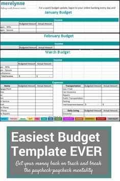 474 Best Budget Templates And Planners Images On Pinterest In 2018