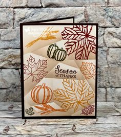 Retiform Technique Thanks Card by - Cards and Paper Crafts at Splitcoaststampers Owl Punch, Punch Art, Fall Cards, Holiday Cards, Thanks Card, Handmade Birthday Cards, Handmade Cards, Stampin Up Christmas, Thanksgiving Cards