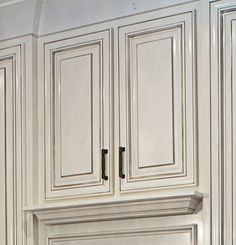Raised Panel Cabinet with Nuance paint by Sherwin Williams with a Pewter Glaze | Truland Homes