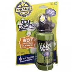 As the name implies, Fart Bubbles are scented bubbles that smell like farts. Gross? Yes. Hilarious? YEP!