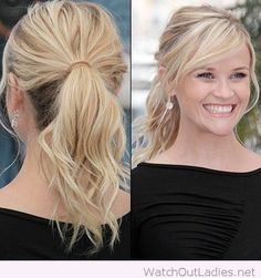 Cute beachy waves in a ponytail