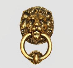 Solid Brass Lion with Ring Door Knocker