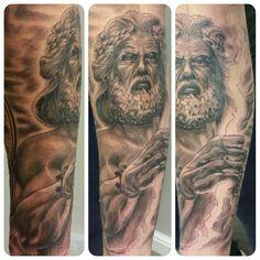 Still to finish this zeus tattoo