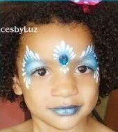 Gem idea for princess face paint
