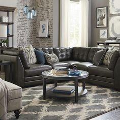 I love this L- shaped sofa!