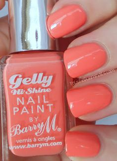 Barry M Gelly Nail Varnish - Papaya /swatched by polishedcriminals.com
