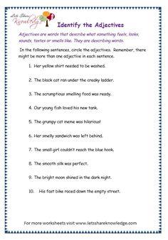 page 5 adjectives worksheet