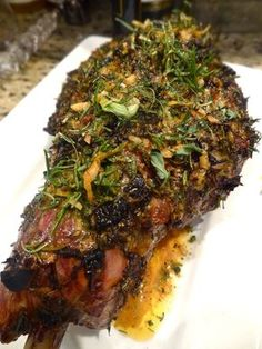 Roast leg of lamb with Mediterranean marinade: Bursting with fresh fragrant Mediterranean flavours, any cut of lamb can be elevated from wonderful to sensationally sublime with. Lamb Roast Recipe, Roast Lamb Leg, Roast Recipes, Cooking Recipes, Healthy Recipes, Leg Of Lamb Recipe, Slow Cooked Lamb Leg, Dinner Recipes, Amish Recipes