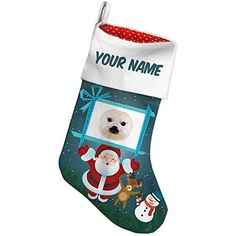 Christmas Stocking Geometric Animal art Baby Seal Xmas night NEONBLOND *** Learn more by visiting the image link. #XmasStockingsHolders