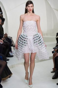 Christian Dior | Spring 2014 Couture | Style.com / and then things like this walked... eeek!