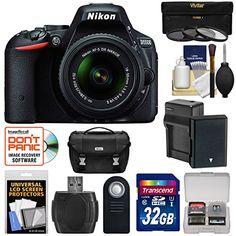 Nikon D5500 DSLR Camera & 18-55mm VR Lens with 32GB Card + Battery/Charger + Case Kit (Certified Refurbished)
