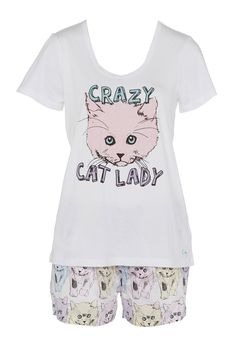Image for Crazy Cat Lady Pj Set from Peter Alexander