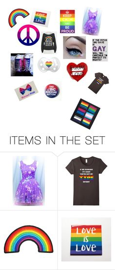 """""""love is love💜💖💜💖💖💜💜"""" by nerdnation ❤ liked on Polyvore featuring art"""