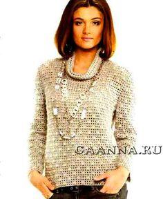 Женский-джемпер-с-шишечками_-Zhenskij-dzhemper-s-shishechkami Crochet Clothes, Blouses, Clothing, Shirts, Fashion, Outfits, Winter, Moda, Clothes