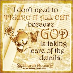 God is Taking Care of The Details
