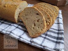 Pâine fără carbohidrați cu rozmarin - Nutriblog Coco, Keto Recipes, Low Carb, Bread, Breads, Sandwich Loaf