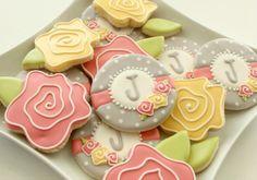 Floral Monogram Cookies | Flickr - Photo Sharing!