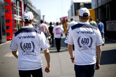 600 races shirts, as modelled by Valtteri and Pastor