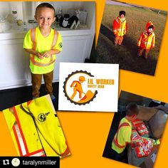 """Great story here about #WeAreYQQ Champ Lil Worker Safety Gear from Taralyn Miller. #Repost @taralynmiller  About a month ago a sponsored add popped up on my Facebook newsfeed. It was a picture of a little boy wearing a """"worker"""" sweater. The sweater actually FIT the child. For any parent who has tried to find high visibility clothing in toddler size knows it was an impossible mission! I showed Parks and instantly his eyes filled with excitement it was absolutely priceless. He wanted one…"""