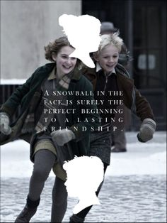 From 'The Book Thief'... Rudy and Liesel are so cute!