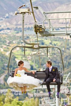 So cute! Talk about a great colorado wedding pic. This would also be a great winter wedding photo!