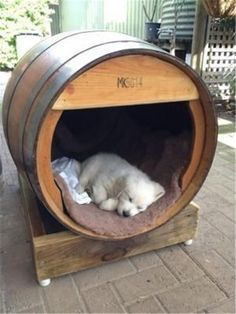 32 Rustic Indoor Dog Houses Design Ideas For Small Dogs To Have - Most people think of outdoor dog houses when they thing of a dog house. However, there are also indoor dog houses. Which are perfect if you want to ke. Cute Puppies, Cute Dogs, Dogs And Puppies, Doggies, Poodle Puppies, Build A Dog House, Pallet Dog House, 15 Dogs, Cool Dog Houses