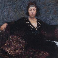 Judy Drew Australia, 1951-. Portrait of Jessica Pastel, signed lower left, 33 x 33 cm