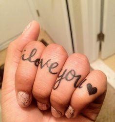 Cool twist on knuckle tattoos