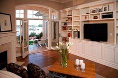 Cape Cod, Shingle style lake home - traditional - living room - detroit - by VanBrouck & Associates, Inc.