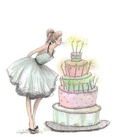 White Dress - Girl Blowing out Birthday Candles FROM: Inslee